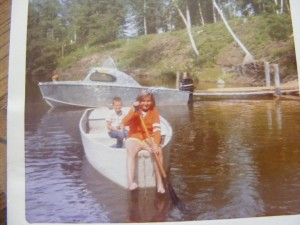 Lori heis at paint lake 1967