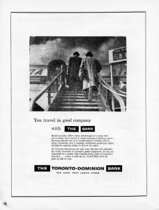 TD bank 1962 advertising