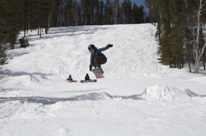 a run on the ski hill