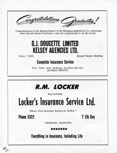 advertising lockers insurance 1962