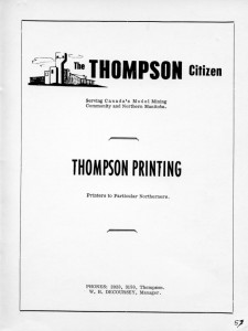 advertising thompson citizen 1962
