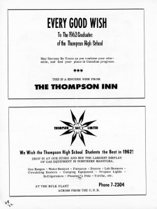 advertizing 1962 high school