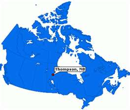 blue map showing Thompson
