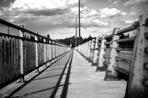 bridge walkway b and w