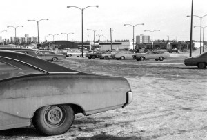 canadian tire parking lot early 70s