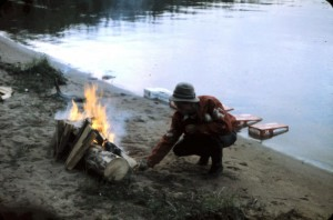 fire at lake drink cooler 1965