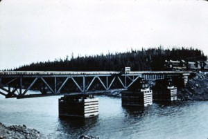first train to thompson on bridge 1959