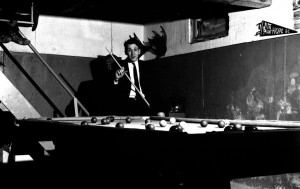 house parties guy playing pool 1960