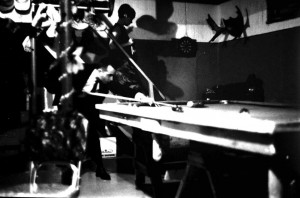 house parties playing pool 1960