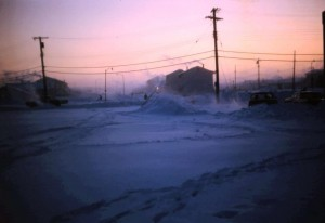 houses in a cold winter 1968