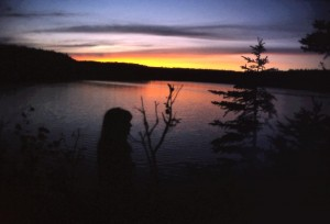 liz lake 1972 sunset