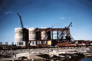 mill under construction 1950s