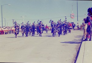 nickle days parade bagpipes 1960s