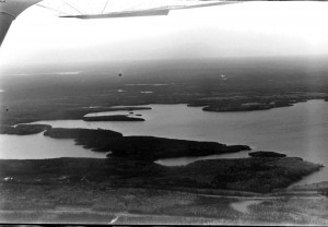ospawagan lake arial view 1977
