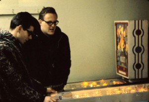 pinball games in basement of the strand 1960s