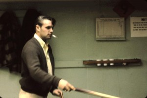 pool player 1960s