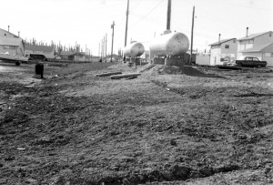 propane tanks in backyard 1960s