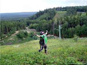 ski hill on the summer
