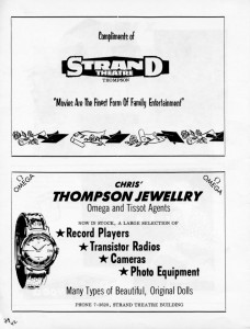 strand theater advertising 1962