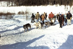 winter carnival dog sledding 1973