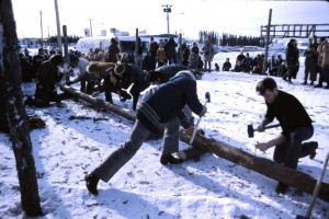 winter carnival nail driving 1973