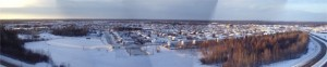 winter panarama photo of thompson