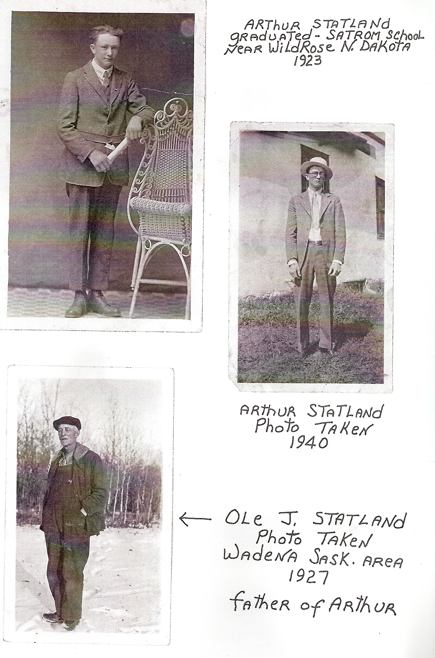 Arther and Ole Statland (father and son)