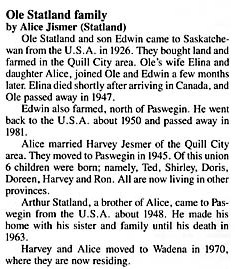 family info history written by Alice