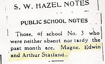 perfect attendance 1917