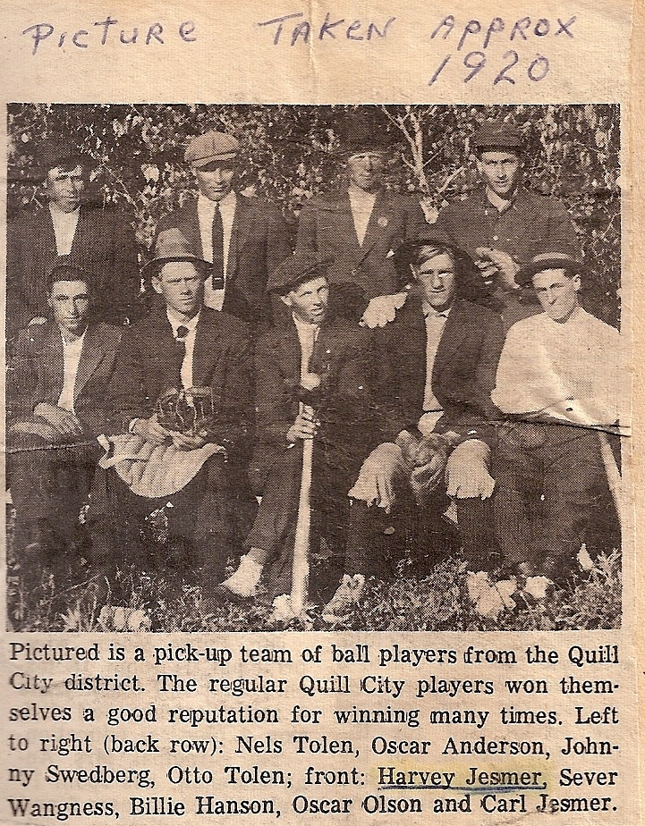 1-quill city players baseball team