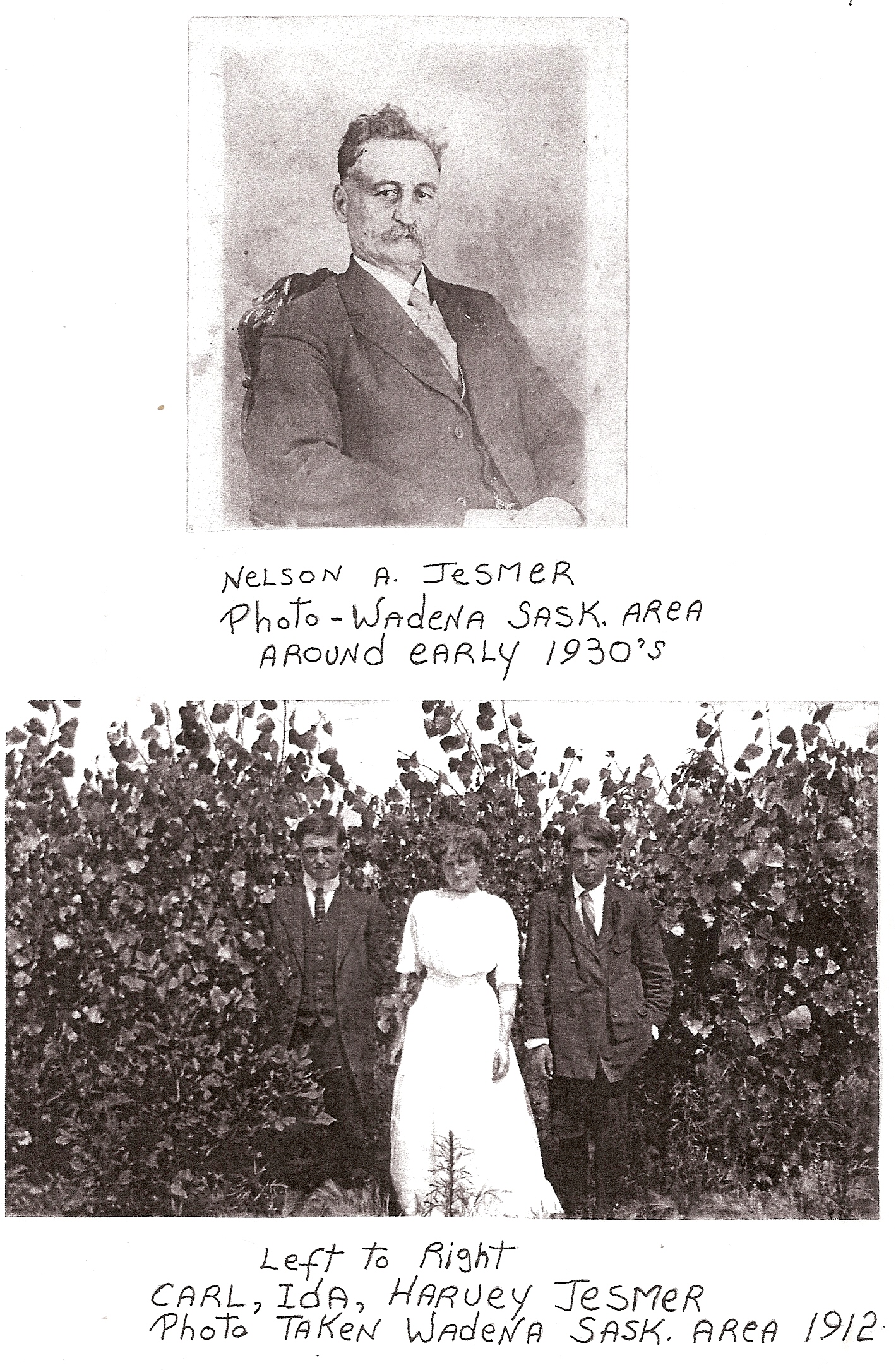 Nelson in 1930 and 3 kids in 1912