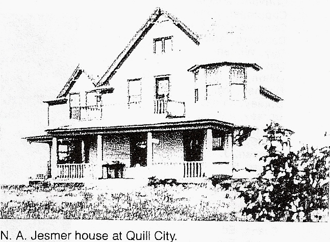 Nelsons house in Quill City
