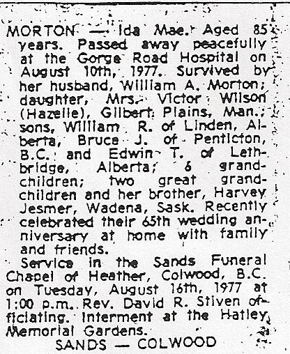idas obituary 1977