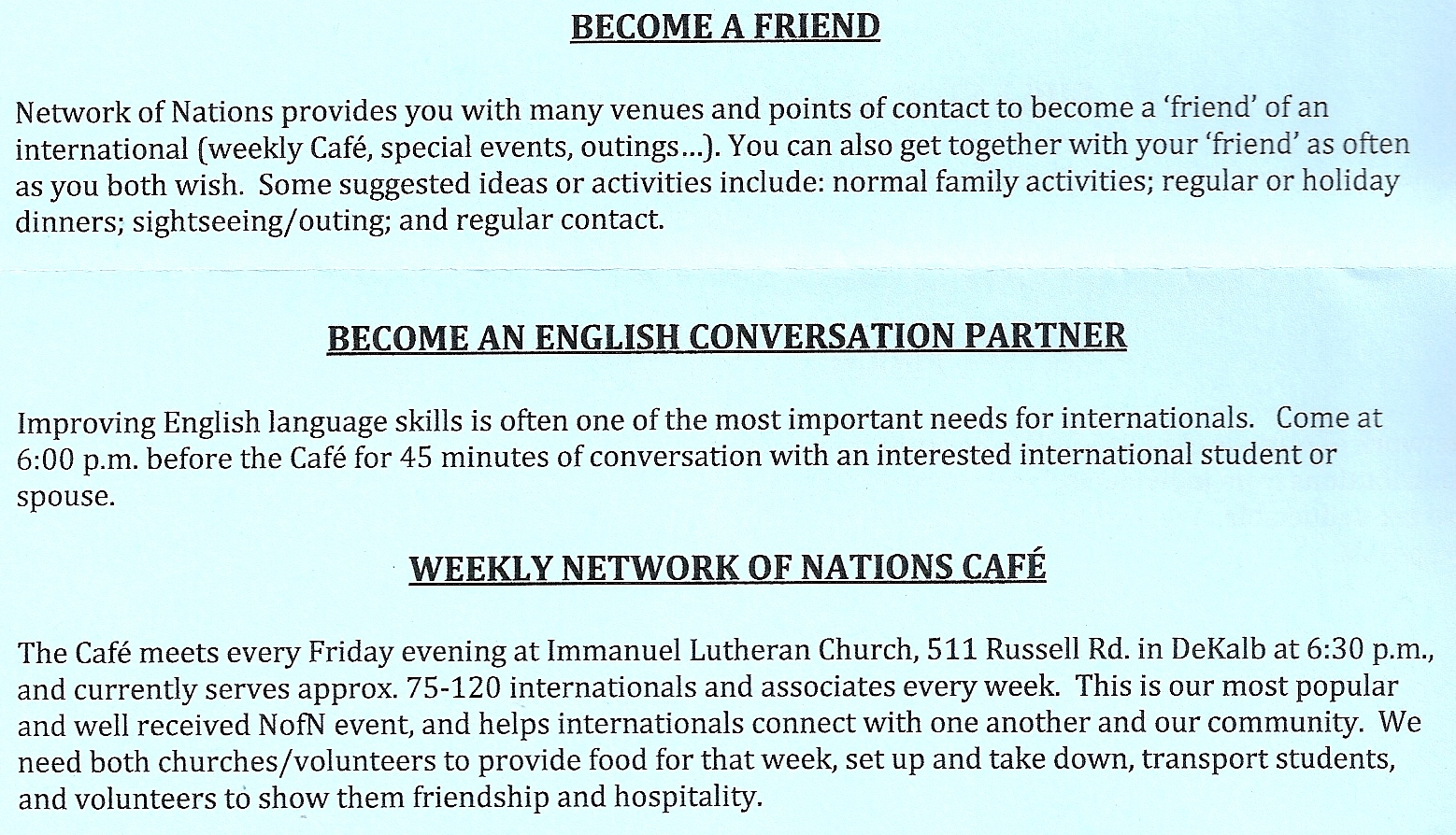 othe ways to get involved 2013
