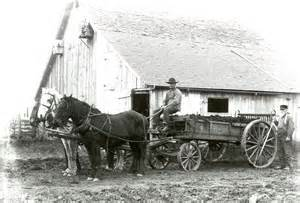 another horse drawn wagon