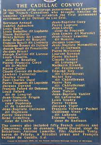 cadillac convoy- monument name close up