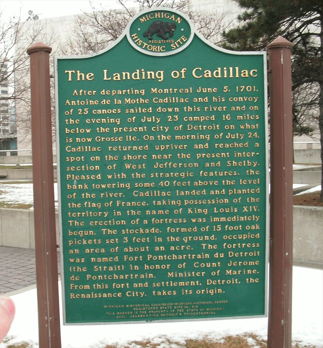 the landing of Cadillac