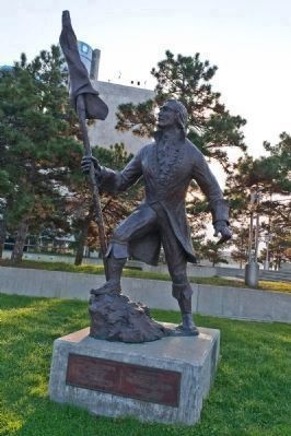 the statue of cadillac landing
