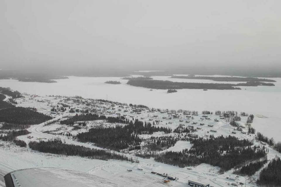 other side of cat lake from the air