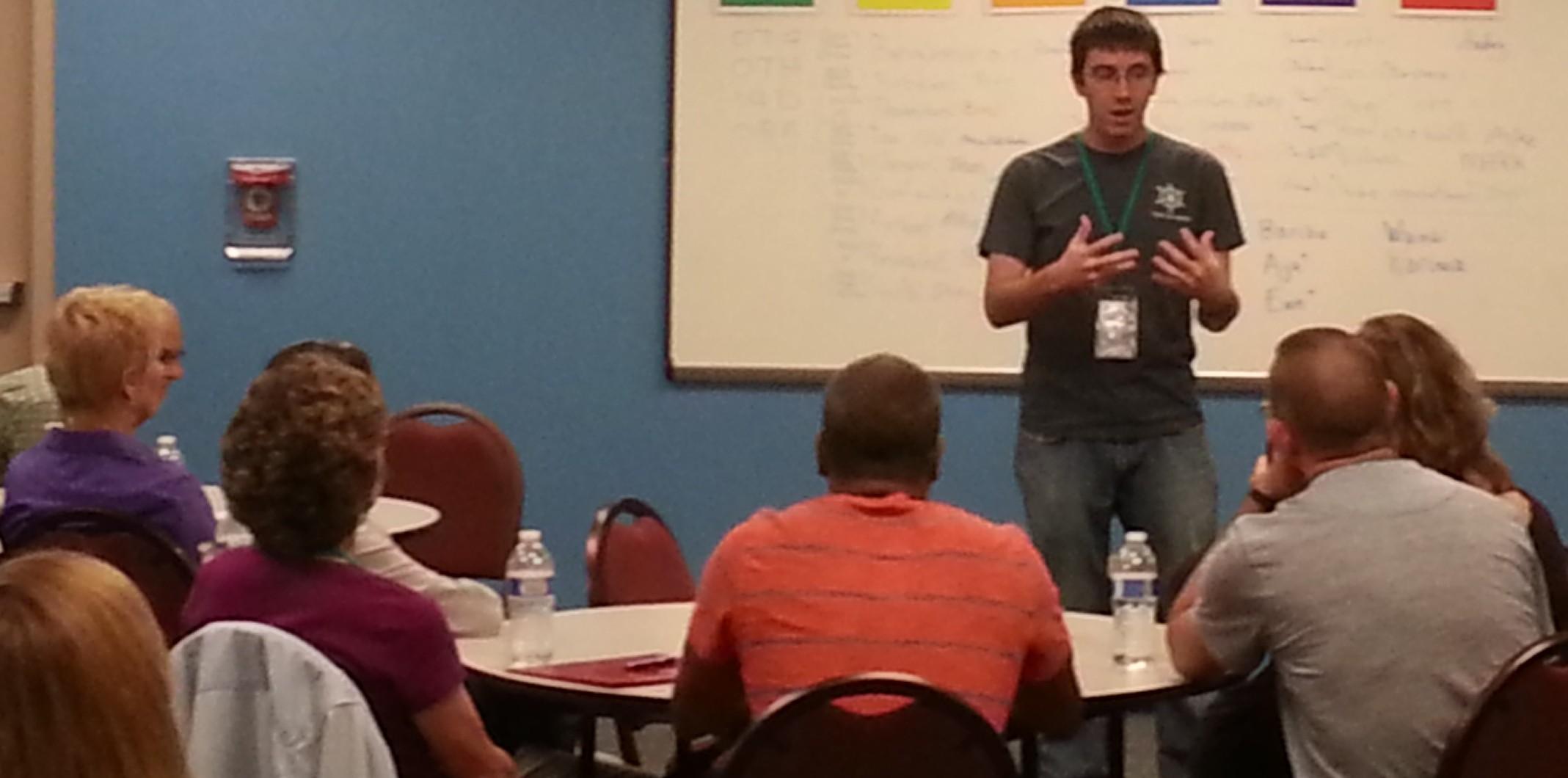 a guy teaching