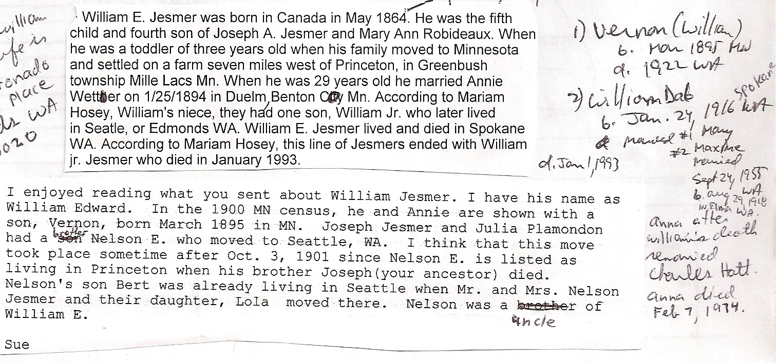 William Jesmer notes-2