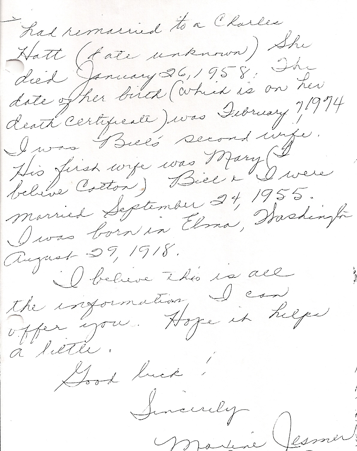 letter page 2 without address