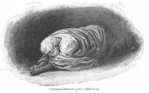 abraham falls prostrate