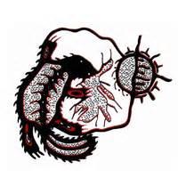 close up of emblem