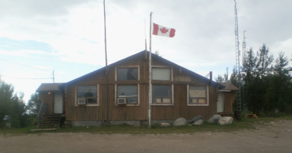 official building with flag