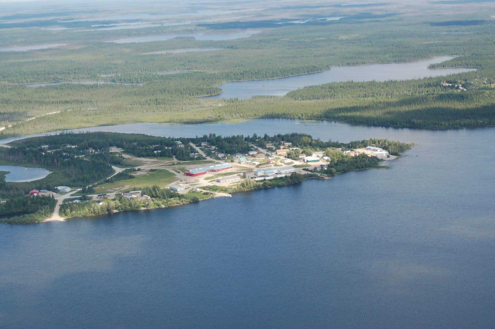 arial view of bearskin lake
