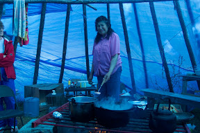 cooking in teepee