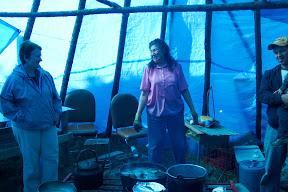 inside a teepee