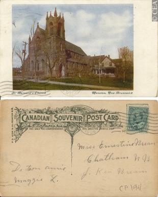 postcard of St Bernards church