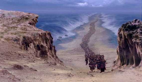 walking through the red sea